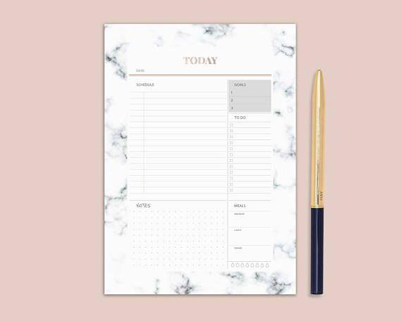 graphic regarding Cute Planner Refills called Marble planner, Day by day planner printable, planner refill