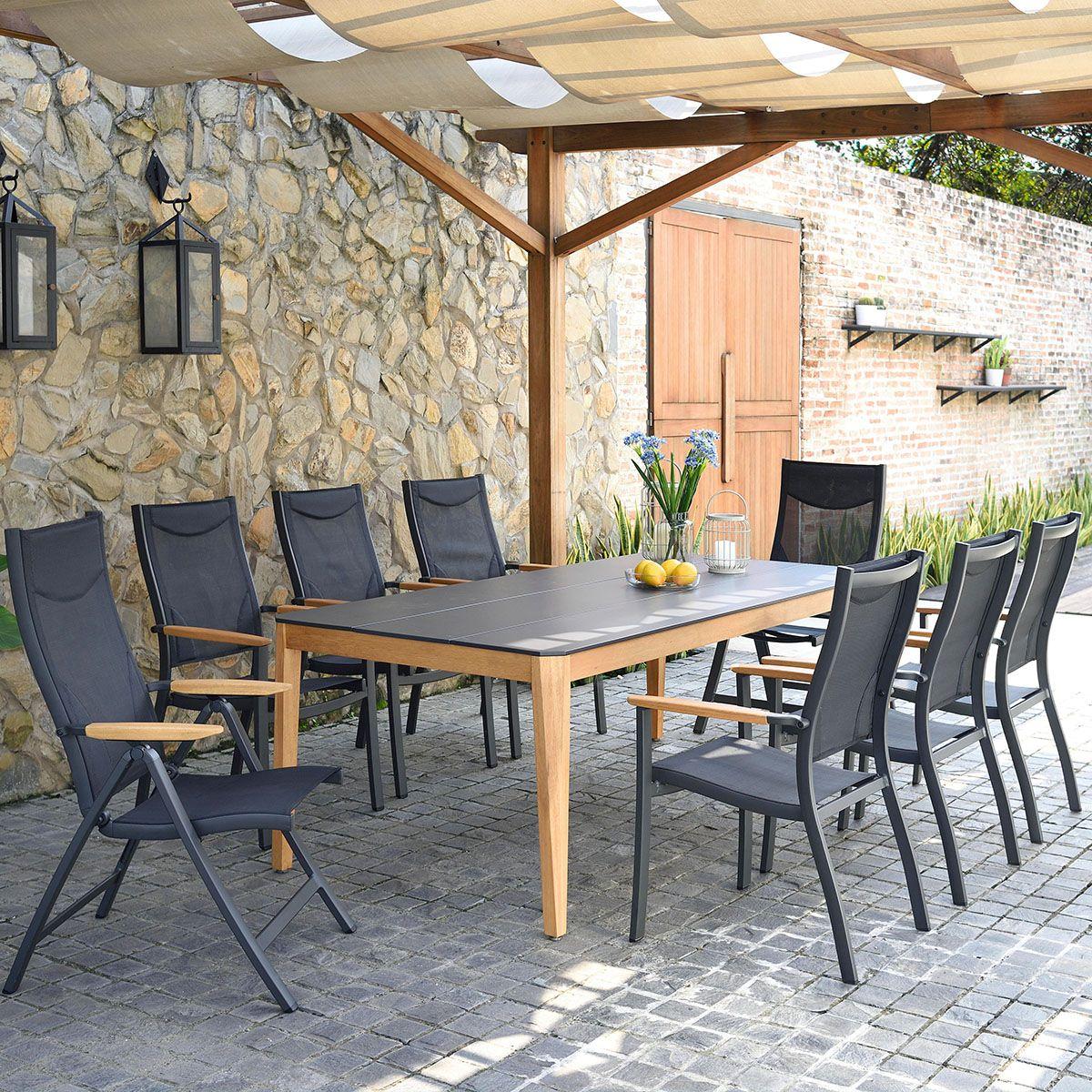 Gartentisch Tisch Fur Den Garten Holztisch Metallplatte Gartenmobel Mobel Fur Den Garten Garten Draussen Garte Gartentisch Gartentisch Holz Gartensessel