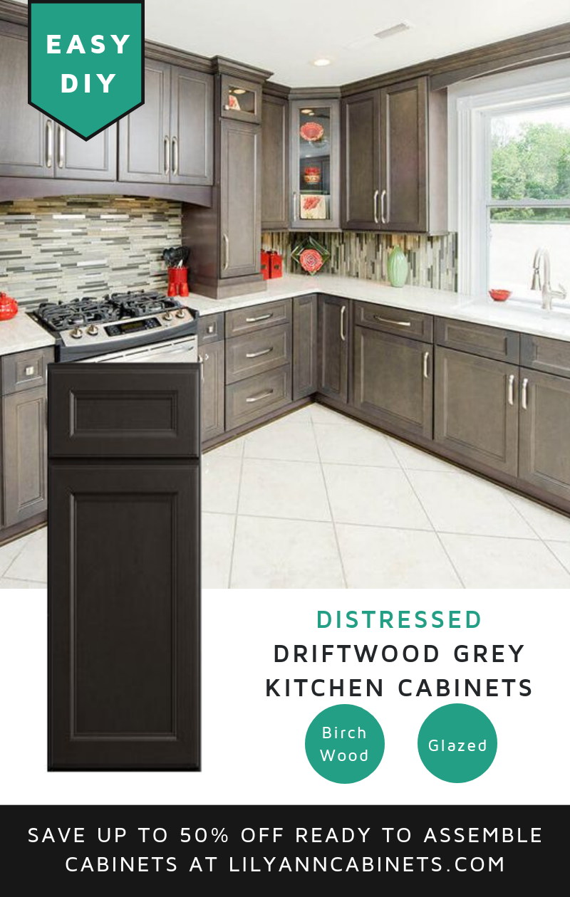 Best Lilyanncabinets Diy Driftwood Grey Kitchen Cabinets Are 640 x 480