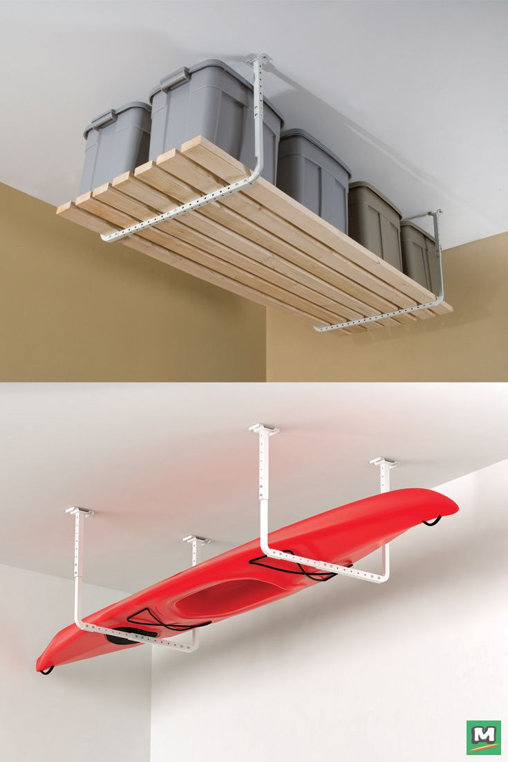 HyLoft Ceiling Storage Rack Kit Will Free Up Your Floors. Expandable To Any  Length,