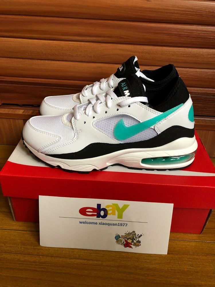 18180ce8e1 Nike Air Max 93 Dusty Cactus Mens White-Sport Turquoise-Black 306551-107 # Nike #RunningShoes