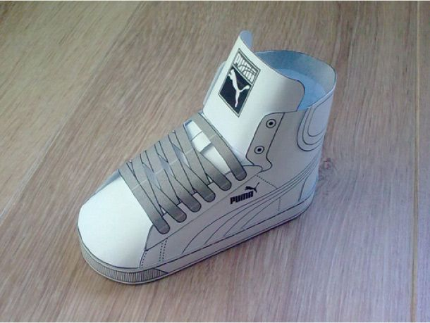 Nike Paper Shoe Template  Blog_Paper_Toy_paper_sneaker_Puma_First_Round_blank -
