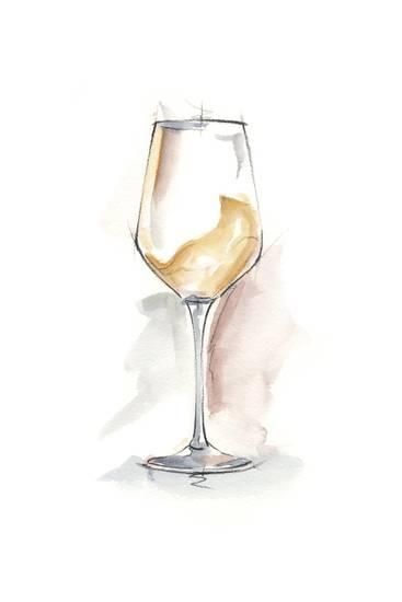 'Wine Glass Study I' Premium Giclee Print - Ethan Harper | AllPosters.com