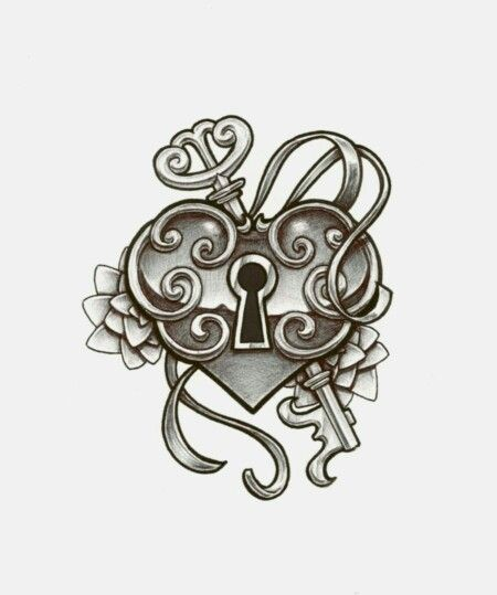 Heart Key Illustration Tattoo Flash Art Pinterest Tattoos
