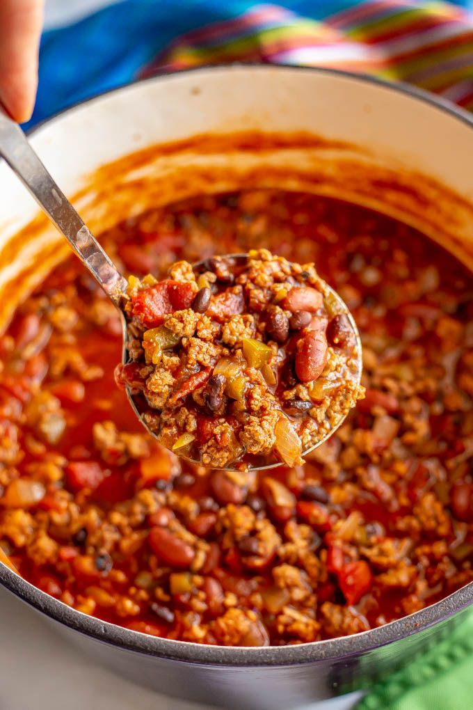 The best game day chili - Family Food on the Table