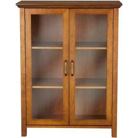 elegant home fashions two door floor cabinet in russet