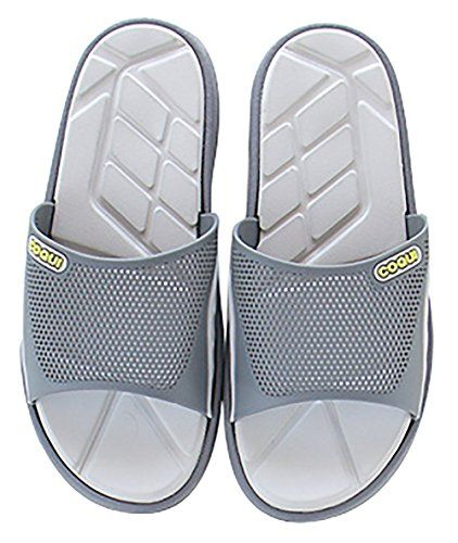 78f3f06ec6a8d7 Introducing Slip On Slippers Nonslip Shower Sandals House Mule Mesh Uppers  Pool Shoes Bathroom Slide for Mens Size. Great Product and follow us to get  more ...