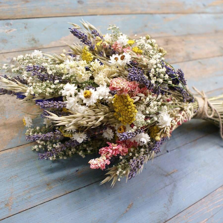 Festival Meadow Dried Flower Wedding Bouquet   Flower, Weddings and ...
