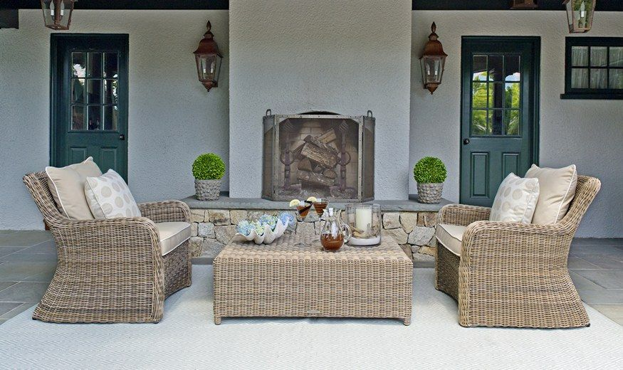Love How This Room Blends Indoors And Out. Kingsley Bate Sag Harbor  Collection Available