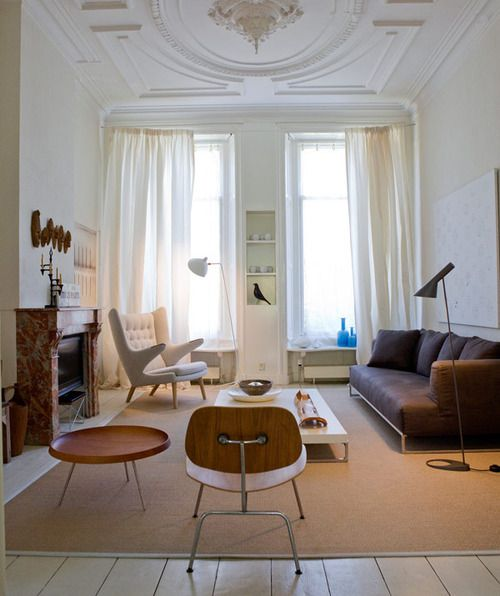 fabulous modern living room decor | Fabulous simple and eclectic living room...notice how the ...
