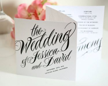 ravishing script tri fold wedding programs wedding ideas