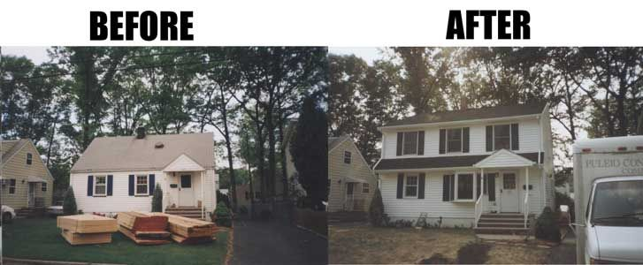 Before and after additions pinterest house for Second floor addition before and after