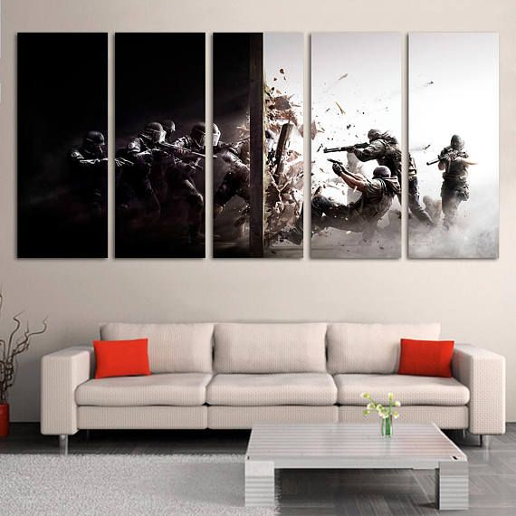 Rainbow Six Siege Tom Clancy S Rainbow Six Siege Large Canvas Print Video Game Posters Gaming Framed Canvas Large Canvas Prints Large Canvas Canvas Frame