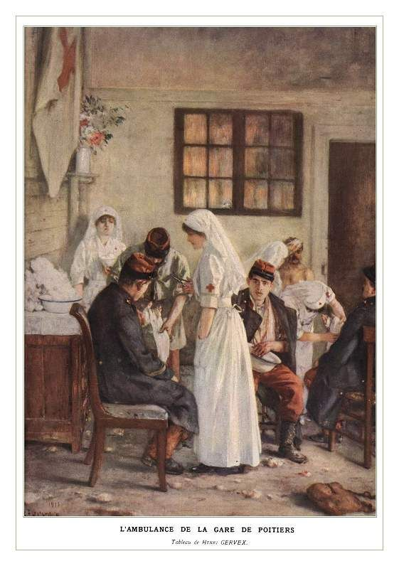 A 1915 Painting By Henri Gervex 1852 1929 Of Wounded