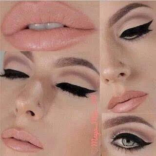 Natural cut crease makeup