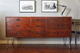 Try To Do A Diy With The Tarva Chest From Ikea And Order Hairpin Legs Online