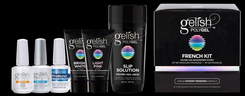 New Gelish Harmony Polygel French Kit Gel Nails Gel Nails
