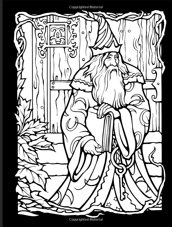 Wizards And Dragons Stained Glass Coloring Book Dover Stained Glass Coloring Book Eric Gotte Dragon Coloring Page Coloring Books Secret Garden Coloring Book