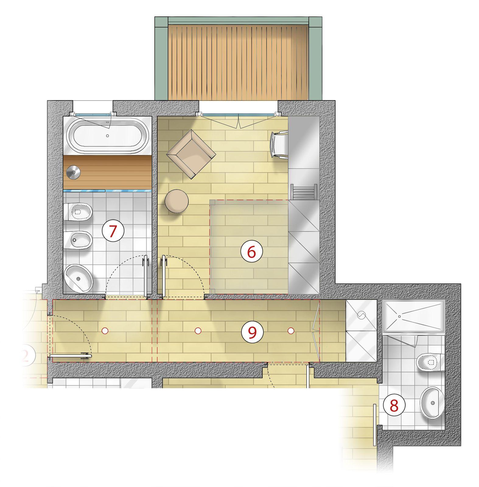 7 doccia passante con un modello a filo pavimento - Piante che si possono mettere in camera da letto ...