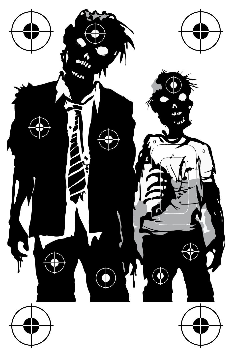 Zombie Family Shooting Target At Photosandfun Com Shooting Targets Target Practice Zombie Apocalypse Party