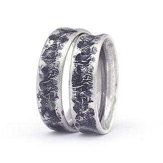 Freundschaftsringe silber breit  Trauringe : Silber