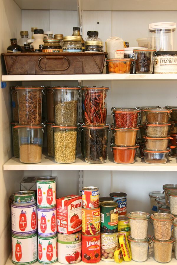 pantry weck jars glass storage west elm saveur magazine test kitchen organization spices staples. Black Bedroom Furniture Sets. Home Design Ideas