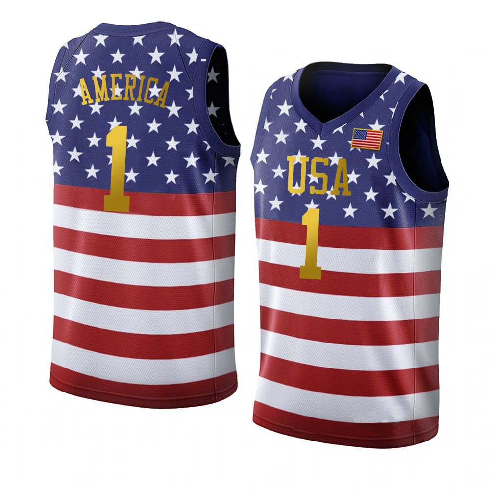 Custom America 1 Usa Flag Basketball Jersey Mesh Design For Veterans Day Independence Day Jersey Design Custom Jerseys Jerseys Outfit