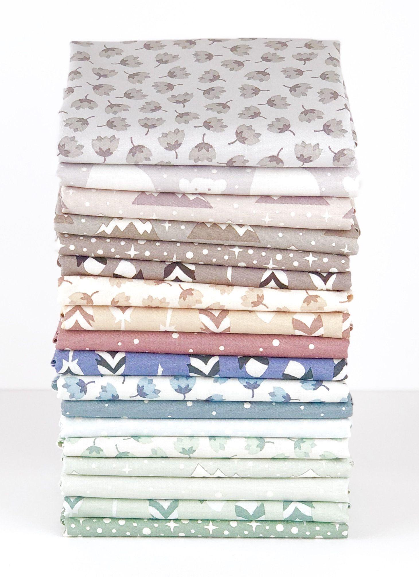 """Black /& White Geometric Quilt Shop Cotton Fabric Fat Quarter Set 10 FQ 18/""""X22/"""""""