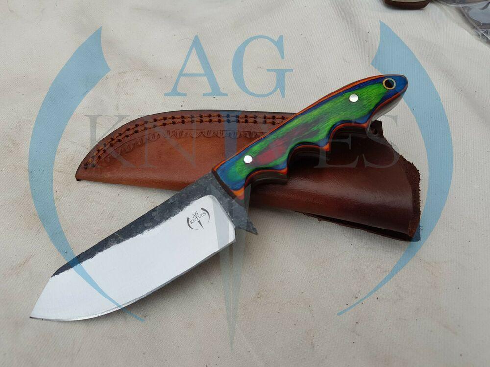 Handmade 1095 Steel Hunting Knife With Color Sheet 8 5 Handmade V 2020 G