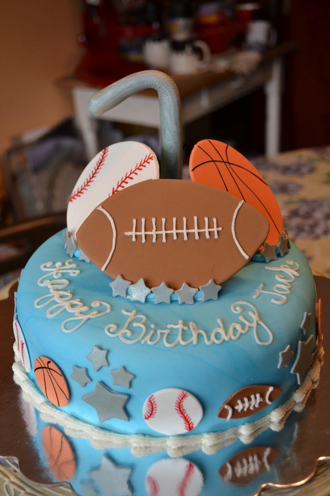 Sports Theme Birthday Cakes For Boys