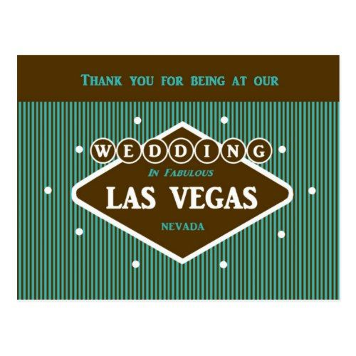 Thank You For Being At Our Wedding LV Postcard