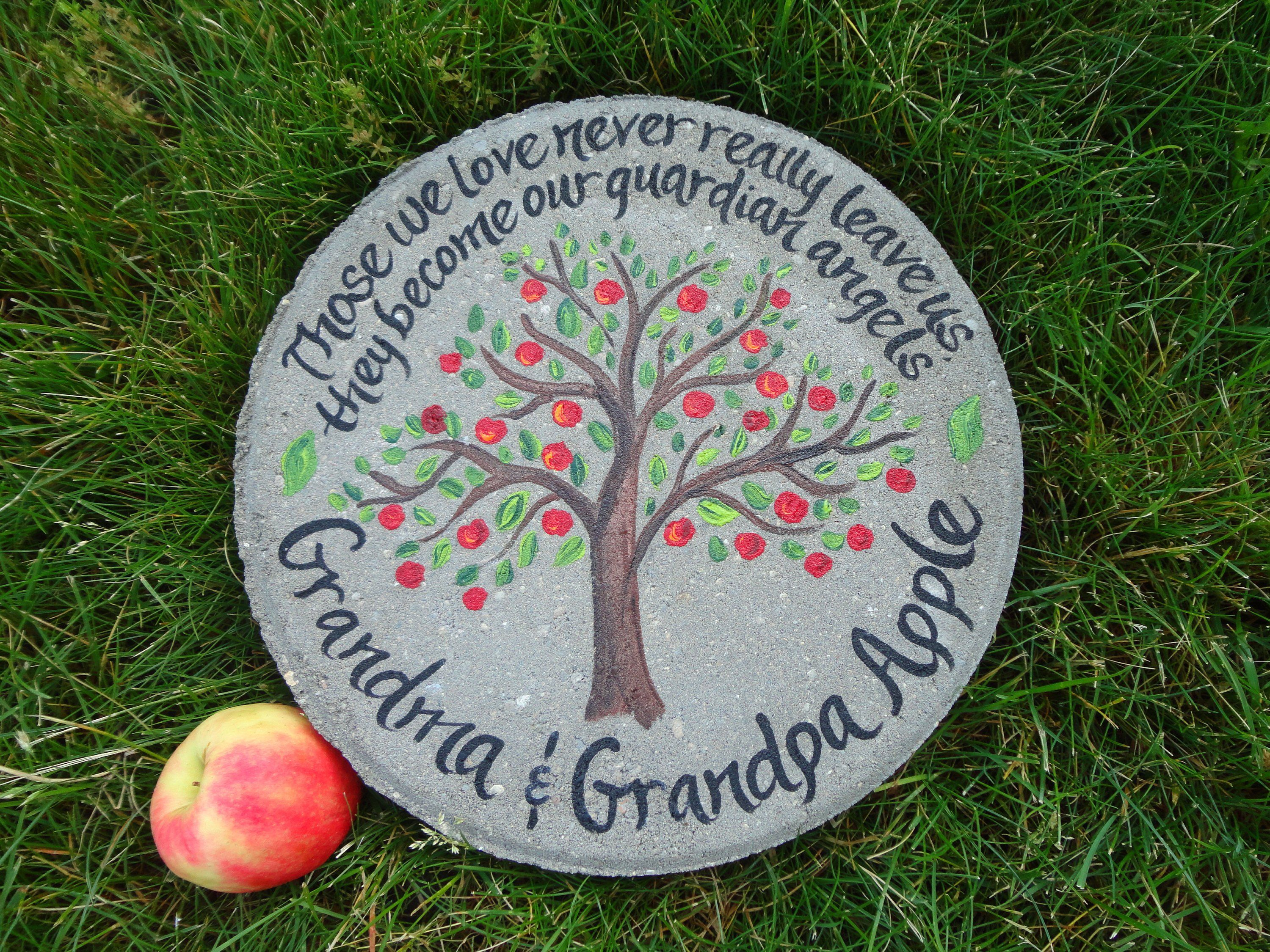 Memorial stepping stone personalized garden stone apple