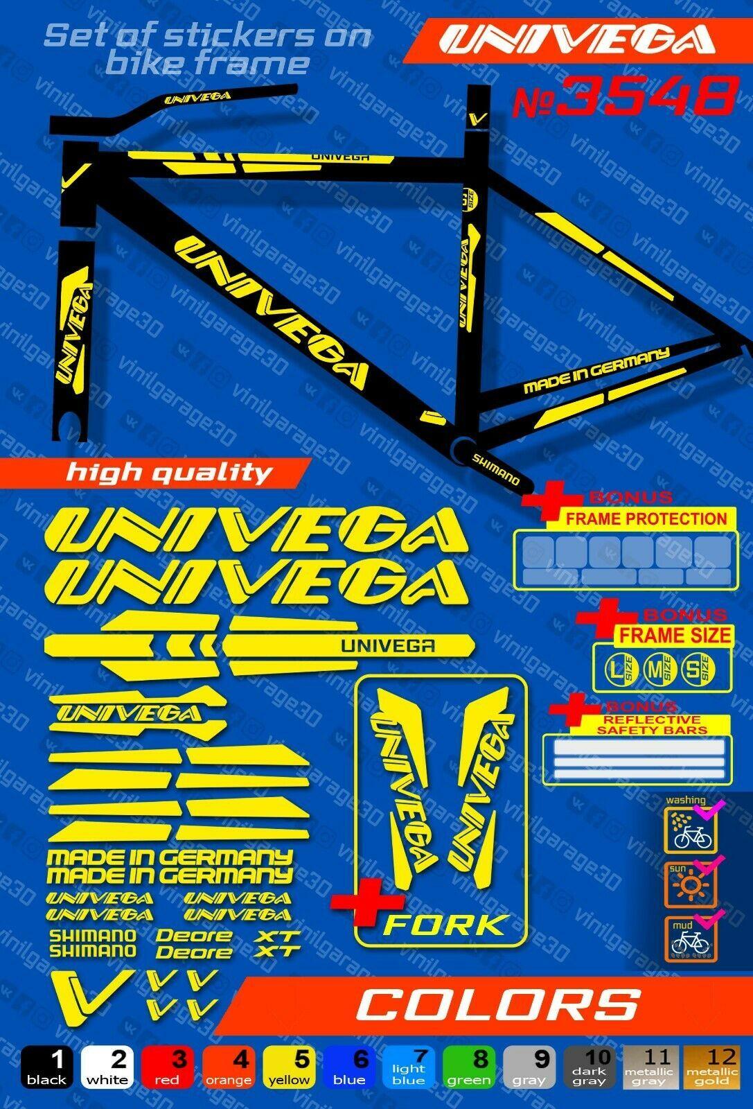 bike frame sticker set fork KTM bike stickers ALL COLORS AVAILABLE
