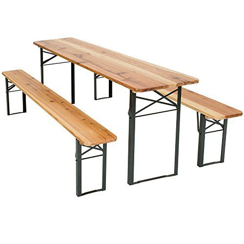 Tectake Meuble De Jardin De Fete Table Et Bancs Bois Terasse Brasserie Pliable Bar Diverses Modeles E Table Et Banc Pliant Table Camping Table De Pique Nique