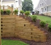 Images Of Retaining Wall Ideas | Retaining Walls   Timber Retaining Wall