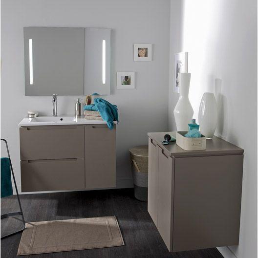 Miroir avec éclairage intégré Néo SENSEA, L90xH74xP35 cm Salle de - leroy merlin meuble salle de bain neo
