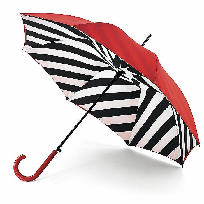 Lulu Guinness Bloomsbury Diagonal Stripe - Available from Fulton Umbrellas