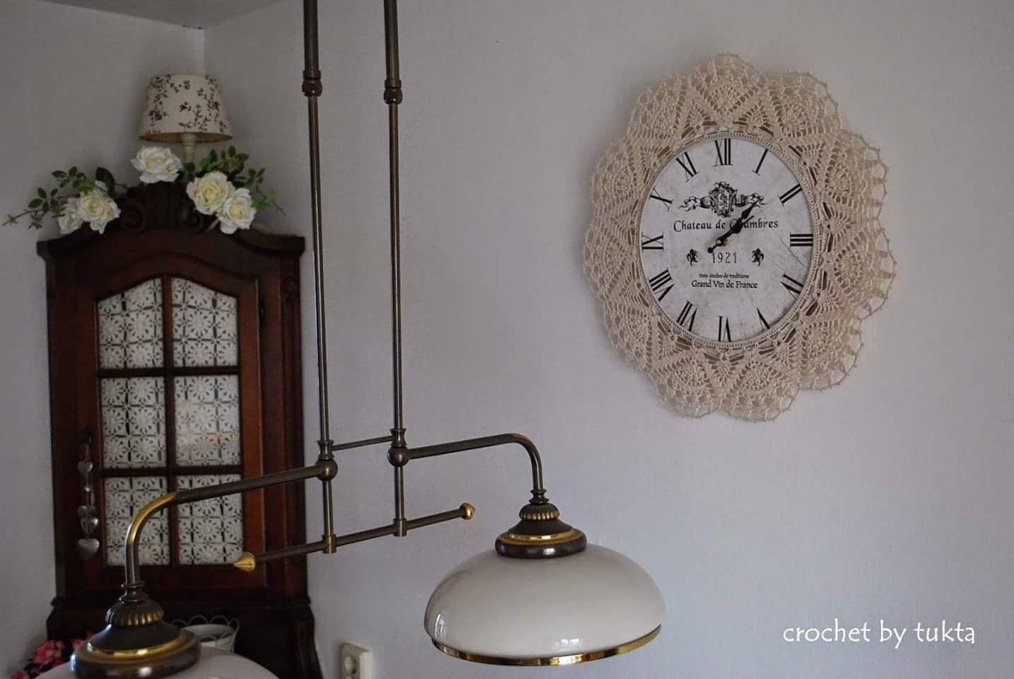 Orologi da parete shabby chic alluncinetto e merletto lo stile
