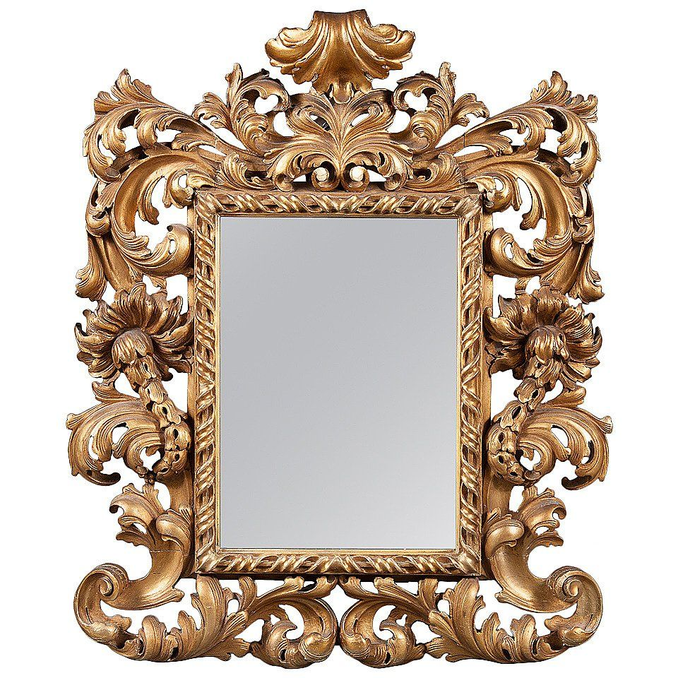 An Intricate 19th Century French Giltwood Rococo Style