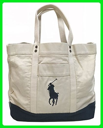 0839c44fee Polo Ralph Lauren Canvas Tote Bag (Off-White) - Totes ( Amazon Partner-Link)