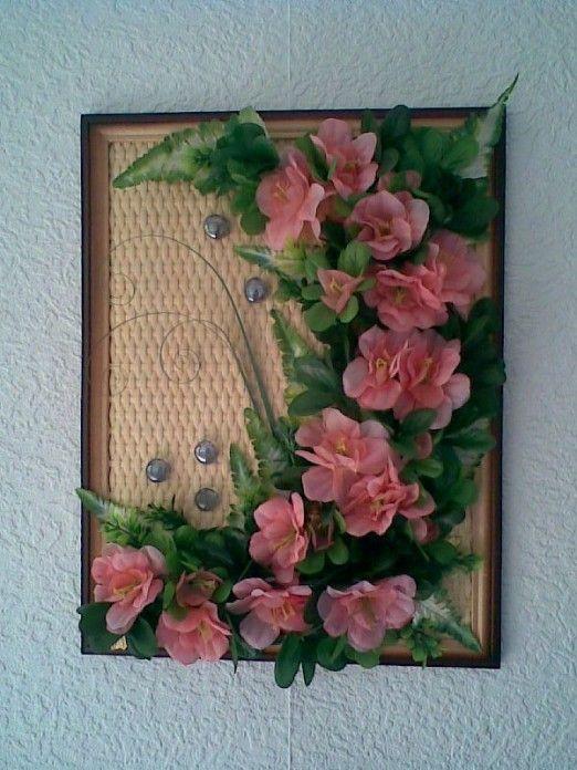 Картина из цветов своими руками из ткани