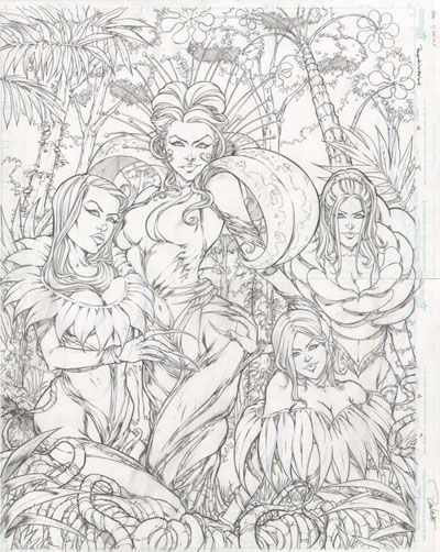 Zenescope's Grimm Fairy Tales: Beyond Wonderland #4 Pages 8 & 9 by Daniel Leister