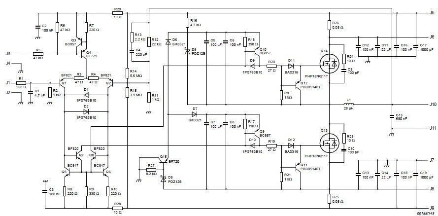 Schematic Wiring Diagram Audio Lifier Circuit 200w