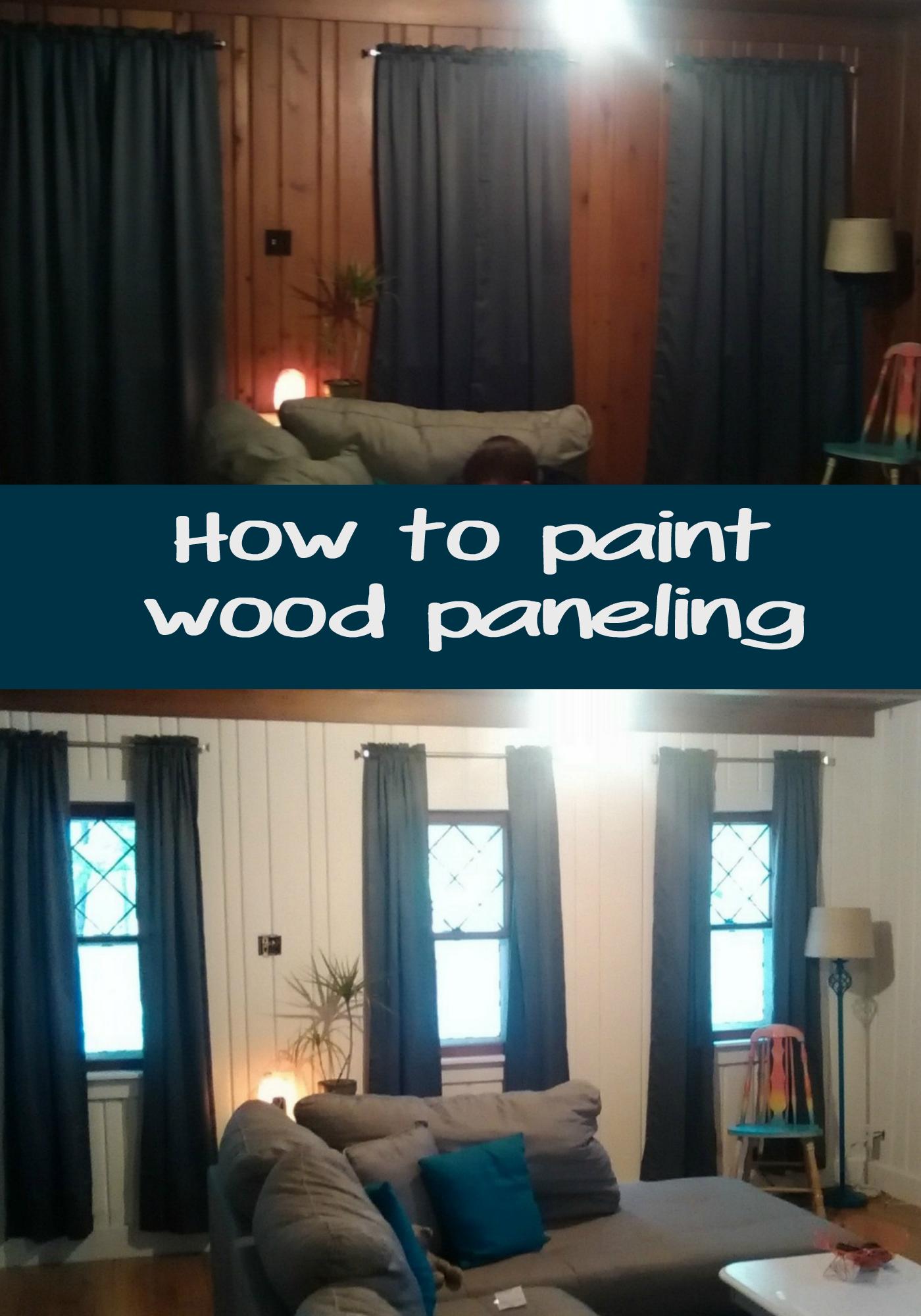 Basement Wood Paneling: How To Paint Wood Paneling. DIY Painting Wood Paneling