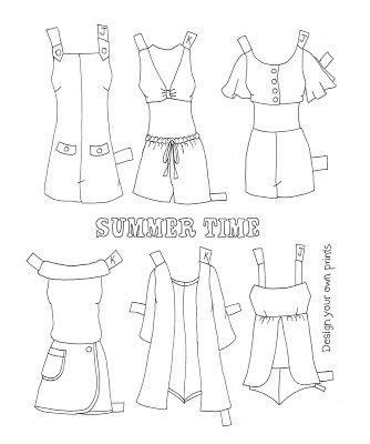 for jan and karen a paper doll coloring book - Coloring Book Yarns