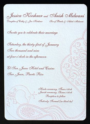 designing invitation enclosures for multiple wedding events