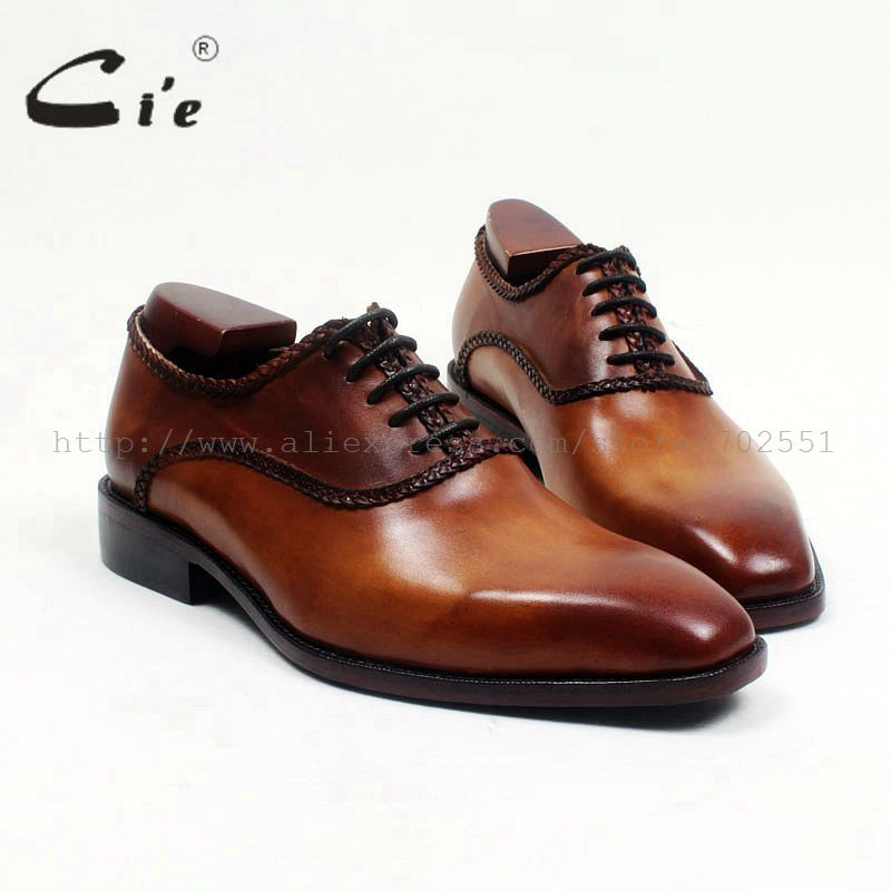 >> Click to Buy << cie Free Shipping Breathable Full Grain Leather Bespoke Handmade Genuine Lace-up Square Toe men's  Oxford Color Brown Shoe OX525 #Affiliate