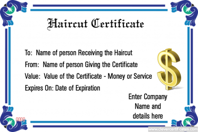 Free haircut gift certificate template free to customize free haircut gift certificate template free to customize download print and email clevercertificates small business marketing promotion yadclub Gallery