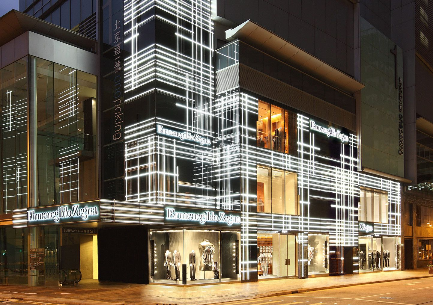 peter marino ermenegildo zegna boutique hong kong facade architectural inspiration. Black Bedroom Furniture Sets. Home Design Ideas