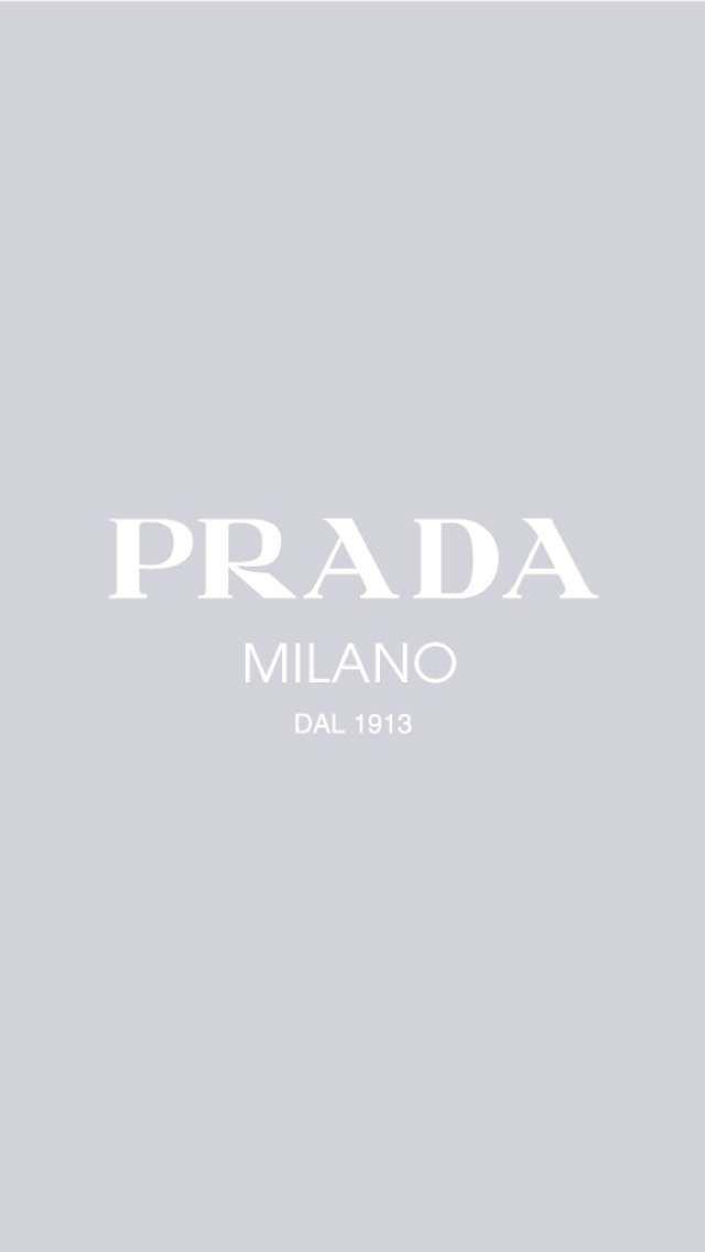 Prada / Cinza iPhone Wallpaper Papel de Parede Fundos iPhone 6 / 6S e Plus PRAD ... - Pinterest #wallpaperiphone